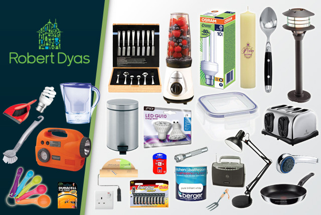 £5 for a £10 voucher to spend at any Robert Dyas store - save 50%