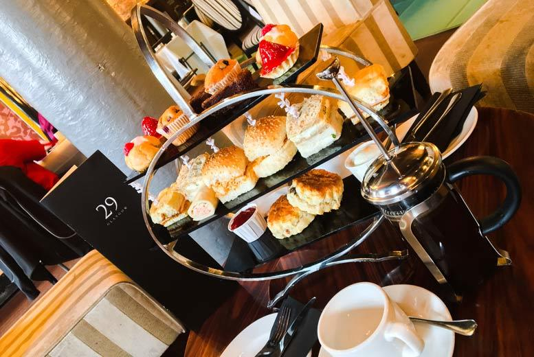 £19 instead of £39.90 for an afternoon tea for two with 'unlimited' tea or coffee, or £26 to include a glass of Prosecco each, at 29 Private Members Club - save up to 52%