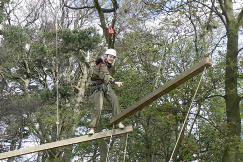 £13 instead of £26 for a high ropes adventure course for one person or £25 for two people at Adrenalin North Yorkshire  save up to 50