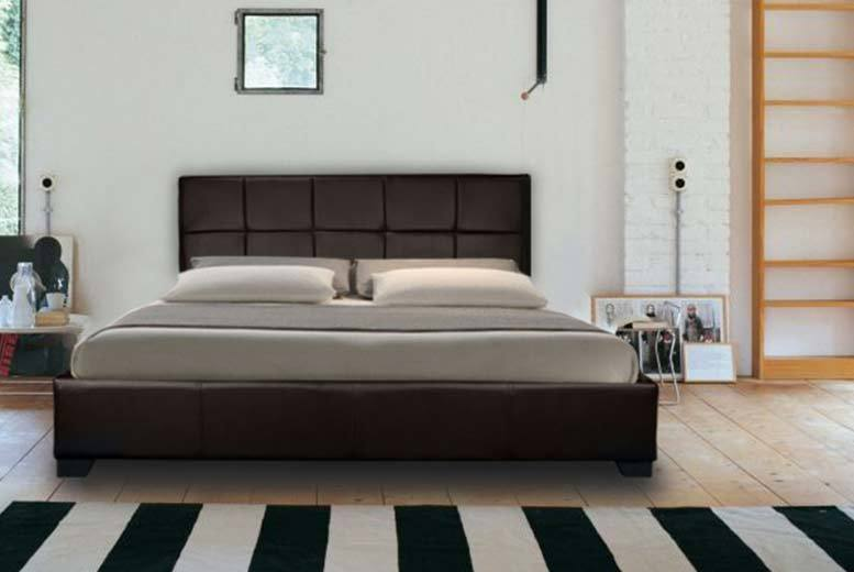 From £99 (from Furniture Italia) for a faux leather double ottoman storage bed, with a limited number available for £89 - upgrade for a mattress and save up to 87%