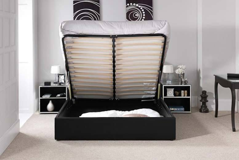 From £99 (from Furniture Italia) for a faux leather double ottoman storage bed with a limited number available for £89  upgrade for a mattress and save up to 87