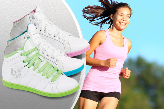 £11.99 instead of £39.99 (from Urshu) for a pair of hi-top trainers - choose from 3 colours and save 70%