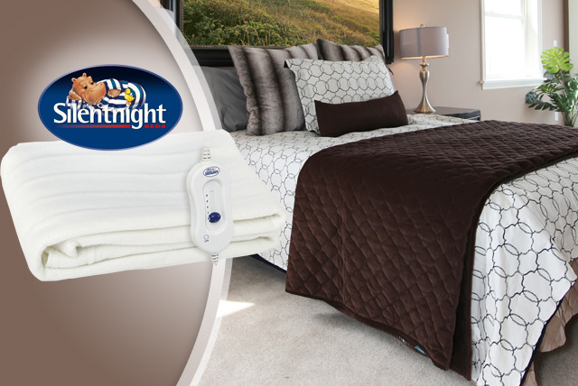 £14.99 instead of £36.99 for a single Silentnight Comfort Control Electric Blanket, £19.99 for a double or £24.99 for a king size - save up to 59%