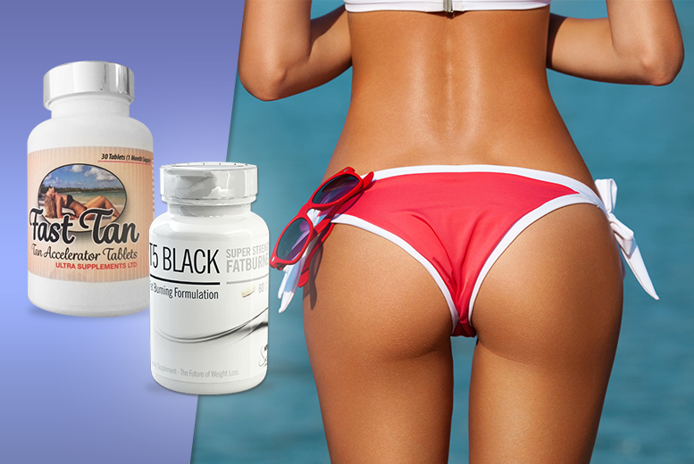 £12 instead of £64.99 (from Ultra Supplements) for a 1-month* supply of black T5 super strength 'fat burner' and Fast Tan accelerator - save 82% + DELIVERY INCLUDED!