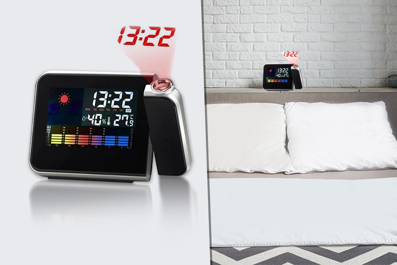 £7 instead of £21 (from Vivo Mounts) for a digital projector alarm clock and weather station  save 67