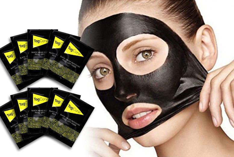 £6 instead of £47 (from TagCone) for 10 blackhead removing peel-off mud masks - save 87%