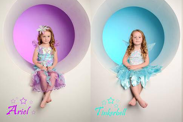 £9 instead of £150 for a 2½-hour Cinderella-themed princess photoshoot, plus 2 copies of an image on CD to take home at Studio 24, Glasgow - save 94%