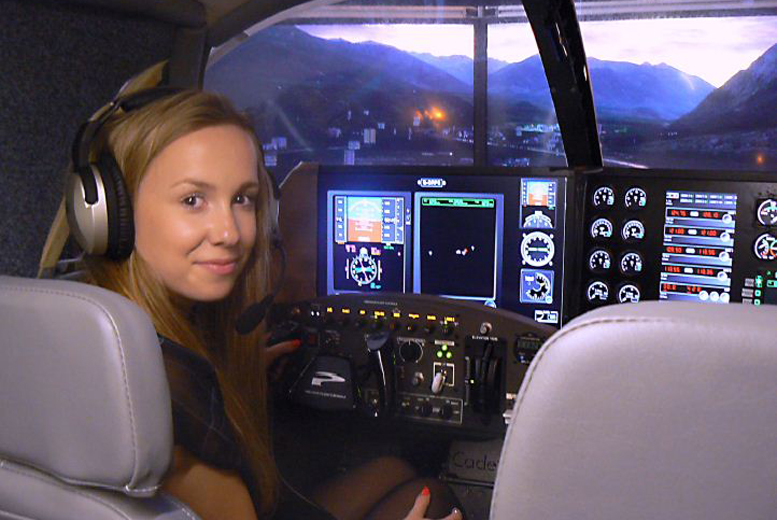 £49 instead of £103 for a 30-minute flight simulation experience for 2 people, or £85 for a 60-minute experience for 4 at Ravenair, Liverpool - save up to 52%