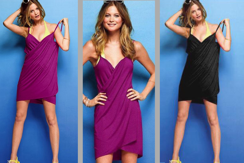 £7.99 instead of £29.98 (from Pretty Essential) for a beach wrap dress in a choice of four colours - save 73%
