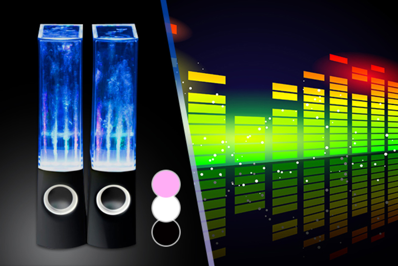 £11 instead of £49.99 (from Chimp Electronics) for a pair of dancing water speakers in a choice of black, pink or white - save 76%
