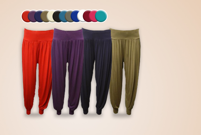 £6.99 instead of £19.99 (from The Fashion City) for a pair of harem trousers, £11.99 for 2 - save up to 70%
