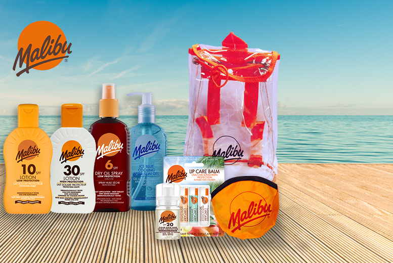£15 instead of £29.93 (from Malibu Sun) for an 8-piece Malibu Sun holiday essentials kit - save 50%