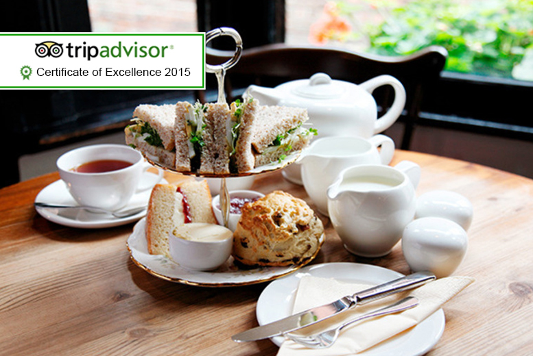 £9 for a Yorkshire afternoon tea for 2 including soup, sandwiches, scones, cakes and a pot of Yorkshire tea at The Lavender Rooms, Knaresborough - save 51%