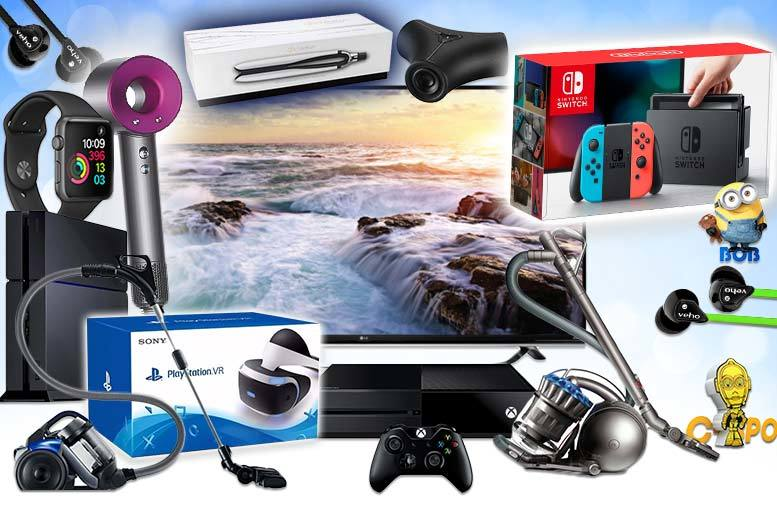 "From £10 for a Mystery Electronics Deal - get a Dyson Supersonic hairdryer, LG 49"" UHD 4K TV, Nintendo Switch, Apple Watch and more!"
