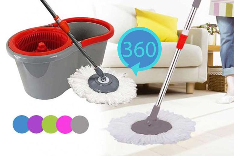 360° Rotating Magic Spin Mop - 5 Colours!