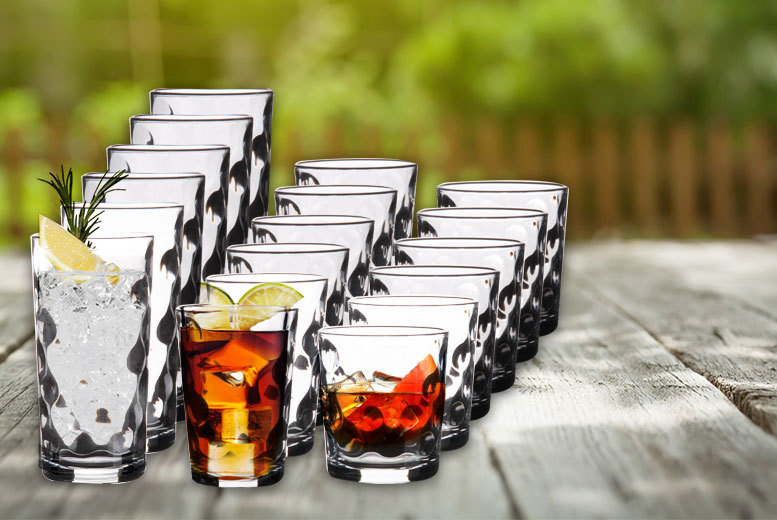 £9 instead of £39.99 (from Dream Price Direct) for an 18-piece glassware set, or £18 for a 36-piece set - save 74%