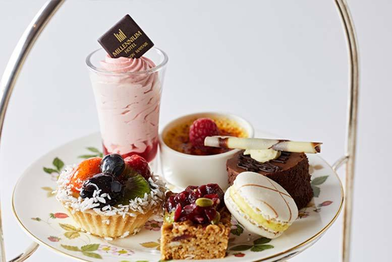 £28 instead of £59.90 for an afternoon tea for two people, £38 with a glass of Moët & Chandon Champagne at Millennium Hotel, London Mayfair - save up to 53%