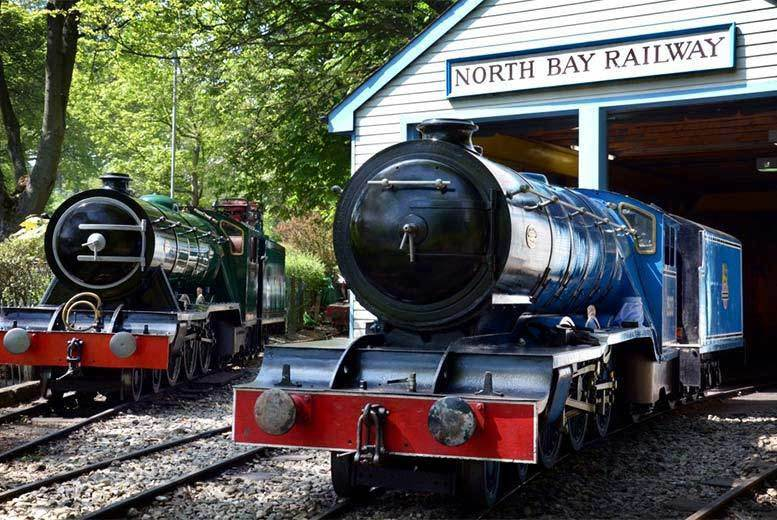£6 for a railway pass, peddle boat and water chute ticket for one adult and one child, £8 for two adults or £12 for a family ticket at the North Bay Railway, Scarborough - save up to 62%