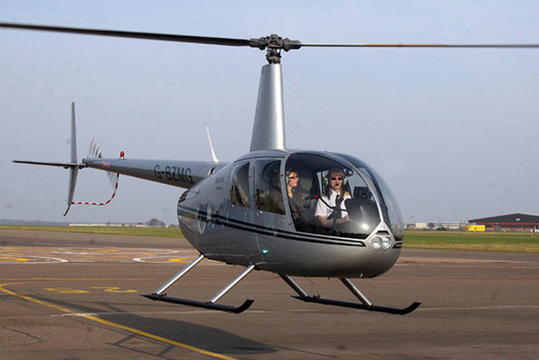 £29 for a 6-mile helicopter buzz flight experience with Helicentre Aviation, Leicester - take to the skies & soar across the Leicester countryside!