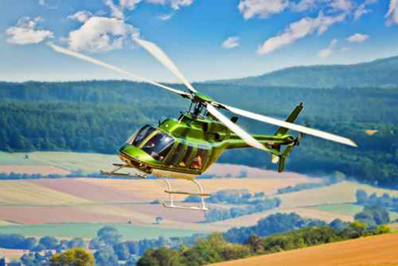 £40 instead of £79 for a 10-mile helicopter buzz flight over Aintree, Manchester or Welshpool with Whizzard Helicopters - save 49%
