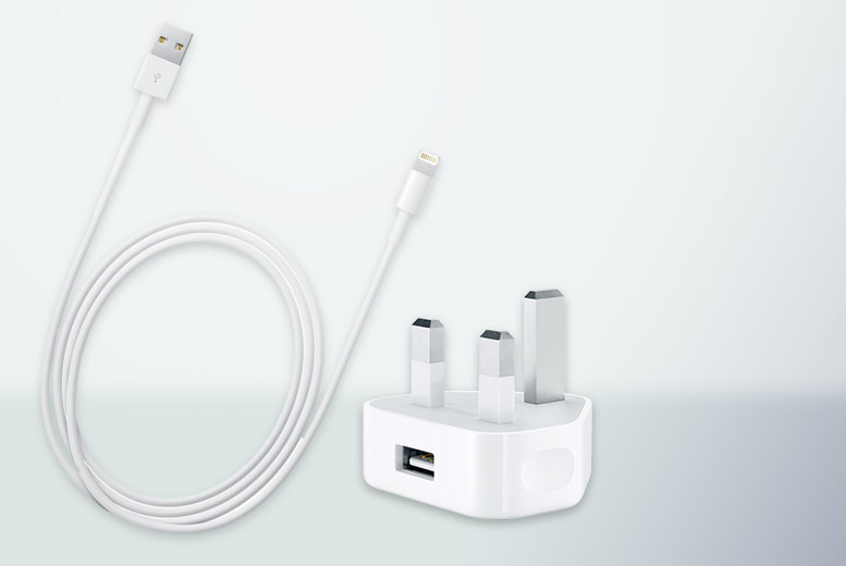 £3.99 instead of £16.01 (from Handtec) for an 1m Apple USB charger cable £9.99 with a 5W power adapter  save up to 75
