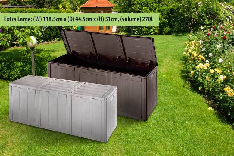 £19 instead of £49.99 (from Groundlevel) for a medium garden storage chest, £24 for a large, £29.99 for an extra-large - save up to 62%