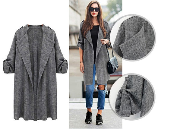 spring open front trench coat