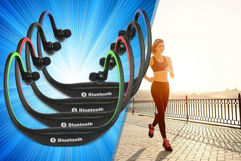 £9.99 instead of £49.99 (from Chimp Electronics) for a set of wireless Bluetooth sports headphones - choose from four colours and save 80%