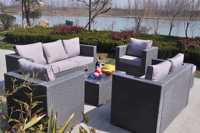 . 8 Seater Rattan Garden Furniture Set   2 Colours