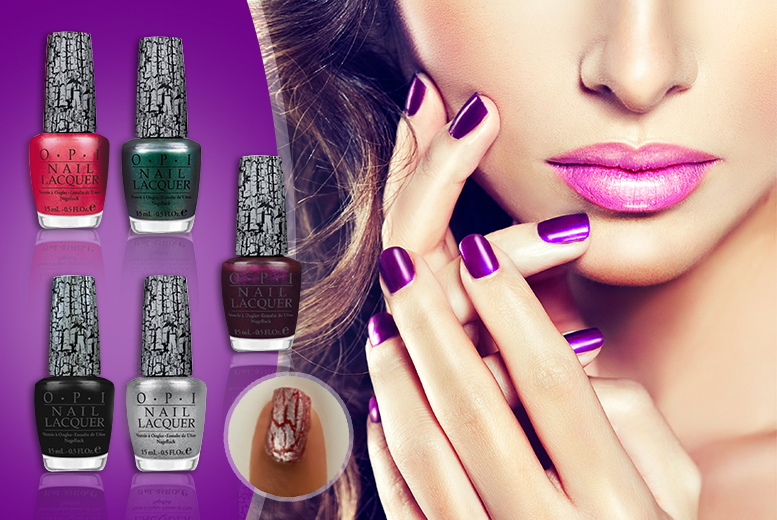 £7.99 instead of £55 (from My Perfume Room) for a 5-piece OPI shatter nail varnish  set - save 85%