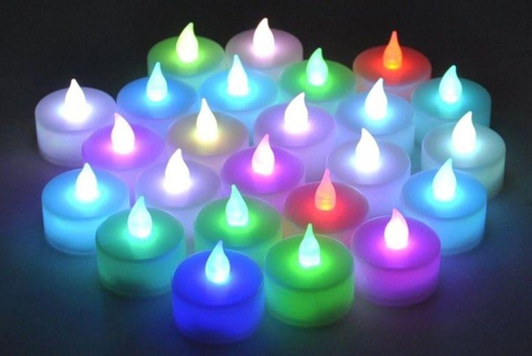 12 LED Colour Changing Tea Lights