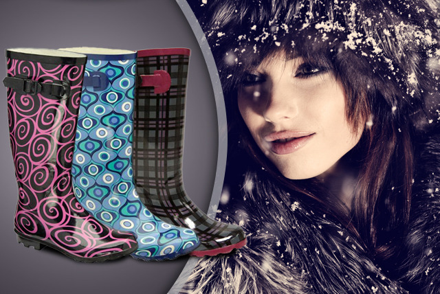 £12.95 instead of £59.99 (from Dallas House) for a pair of designer wellies or heeled wellies in your choice of 5 colourful designs - save a stylish 78%