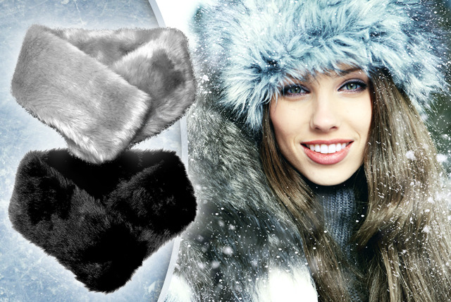 £9.99 instead of £25 (from Posh Treat) for a faux fur collar in black or grey - stay warm in style and save 60%