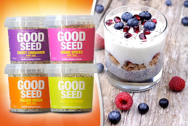 £9.49 instead of £15.56 (from Good Hemp Nutrition) for 4 packs of hemp seeds in a variety of flavours - give your body a boost and save 39%