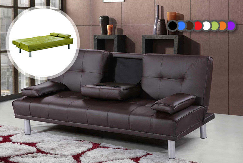 £129 instead of £469.01 (from Sale Beds) for a Manhattan cinema sofa bed with cup holders  choose from eight colours and save 72