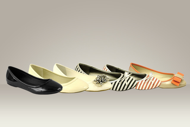 £9.99 instead of £25 (from Leila Eve) for a pair of pumps in 6 different designs - choose stripes, patent, jewelled + more & save 60%