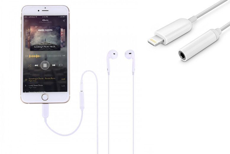 £3.99 (from Fone Stuff) for a lightning to 3.5mm headphone adapter for Apple iPhone7