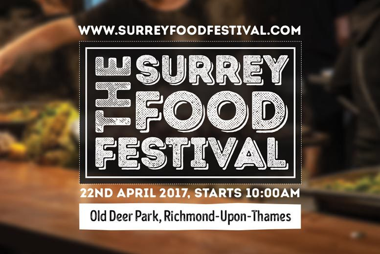 £8 for two tickets to the Surrey Food Festival at Old Deer Park, Richmond, £16 for four tickets - save up to 43%