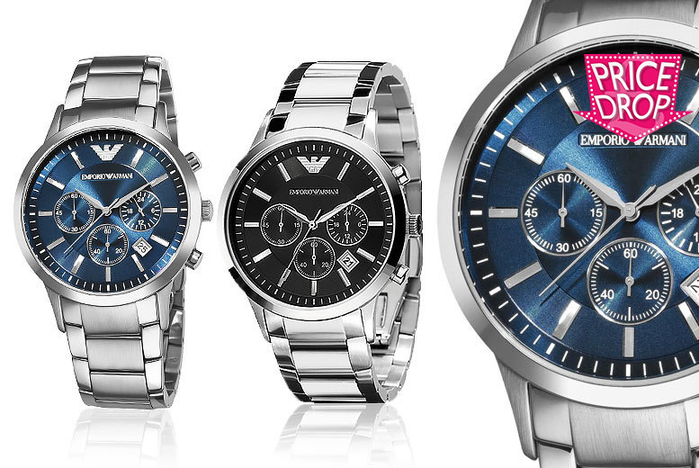 £119 instead of £292.01 (from Wristy Business) for an Armani Men's watch - choose from two designs and save 59%