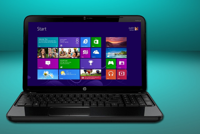 "£399 for an HP 15"" Windows 8 laptop with 2.4GHz processor, 4GB RAM & 750GB HDD, or £449 with a 2.5GHz processor from Wowcher Shop"