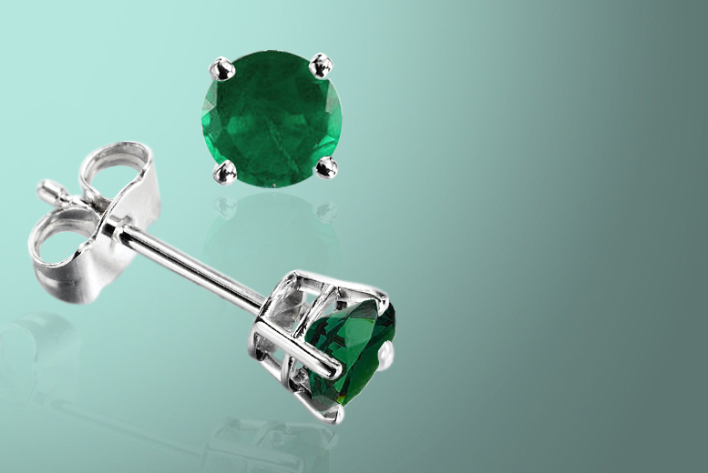 £24 instead of £99.99 (from British Gem) for a pair of May birthstone 0.5 carat emerald stud earrings - save 76%