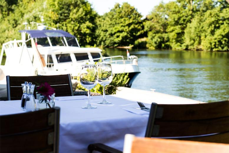 £49 (from Buyagift) for a 3-course meal for 2 people including a Champagne cocktail each at the Michelin-recommended Riverside Brasserie, Bray-on-Thames - save up to 47%