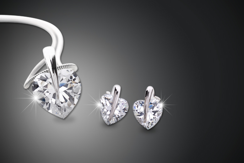 Heart Pendant made with Swarovski Elements - National Deal