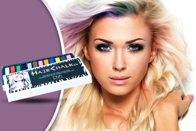 £7 instead of £32 (from DVA Beautique) for a pack of 12 Hair ChalkIn hair chalks - be bold and save 78%