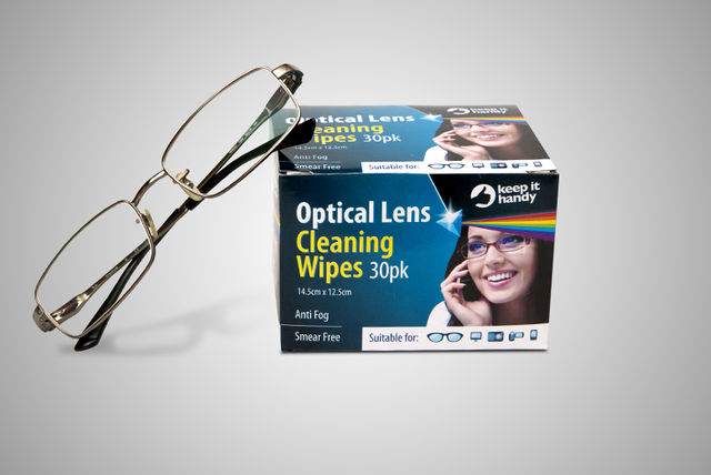 30 optical glass cleaning wipes