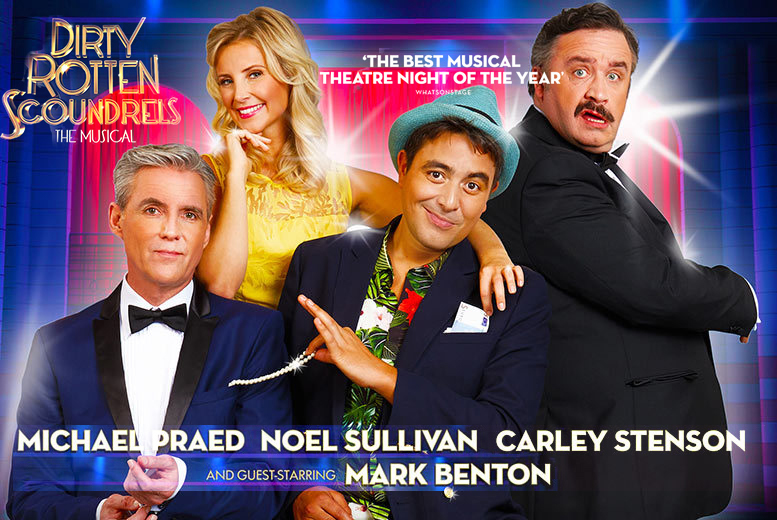 £15 for a Band C ticket to see Dirty Rotten Scoundrels at New Alexandra Theatre, £22.50 for a Band B ticket, £29 for a Band A ticket with ATG Tickets - save up to 43%