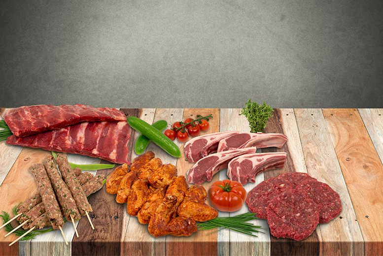 £18 (from Highland Foods) for a large BBQ hamper inc. burgers, pork steaks, chicken wings, ribs and more, £28 for an XL pack, £38 for an XXL pack - save up to 64%
