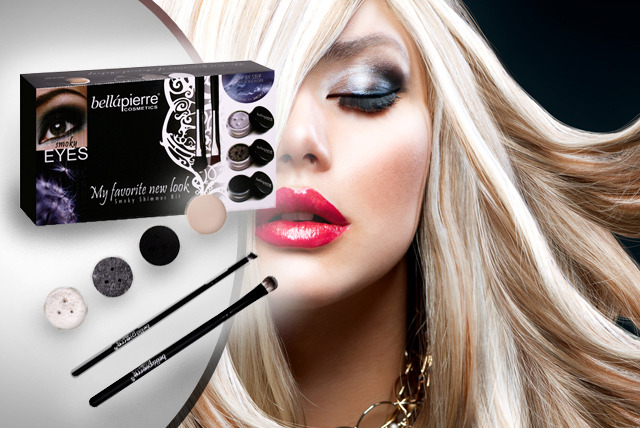 £9.99 instead of £39.99 (from Bellapierre Cosmetics) for a mineral, smoky eyes kit - look fabulous & save 75%