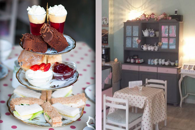 £9 instead of £17.92 for a vintage-themed afternoon tea for 2 people at The Vintage Powder Room and Tea Shop, Whitley Bay - save 50%