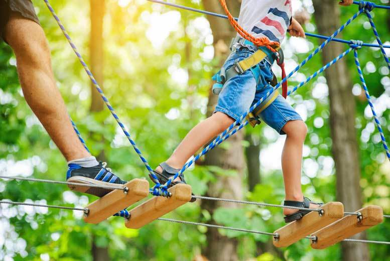 £45 instead of up to £59 for a high ropes adventure for two from Activity Superstore - save up to 24%!